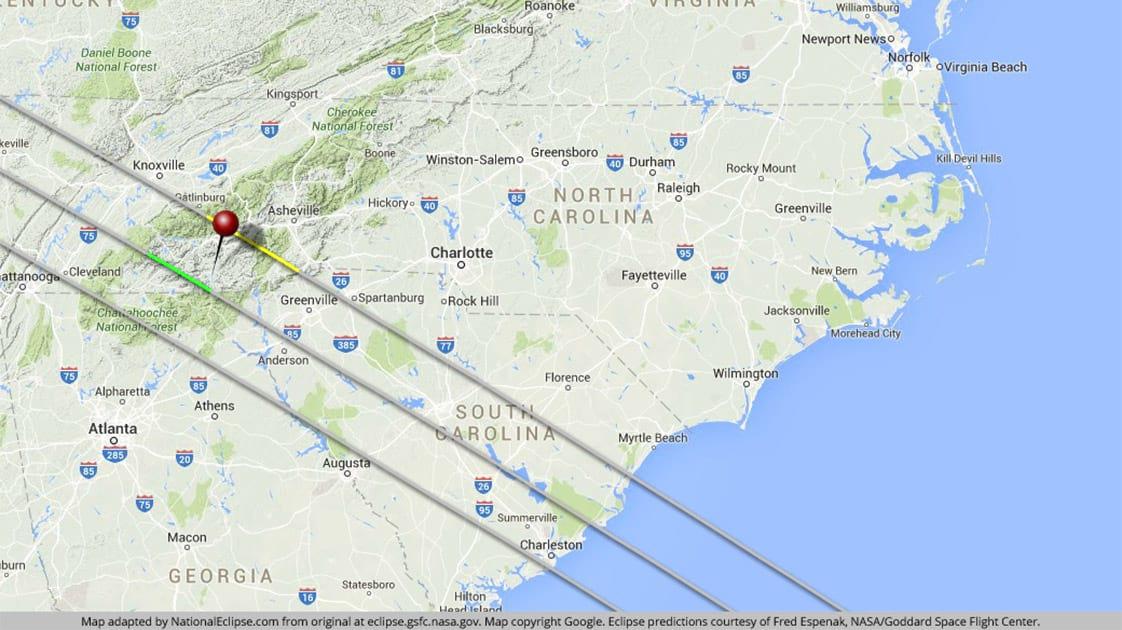 North Carolina Eclipse Map Total Solar Eclipse 2017 Safety | Franklin, North Carolina