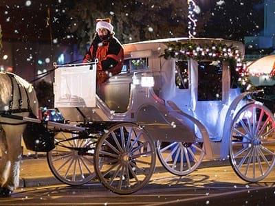free carriage rides winter wonderland franklin nc