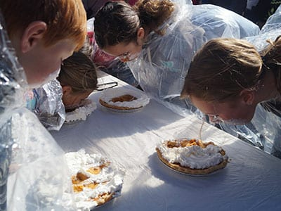 pumpkin pie eating contest pumpkinfest franklin nc